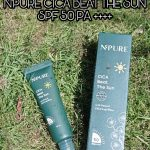 REVIEW SUNSCREEN LOKAL N'PURE CICA BEAT THE SUN SPF 50 PA ++++